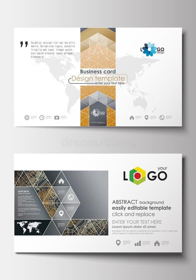 affärskortet verkställer lutningar inga mallar Täcka designmallen, det lätta redigerbara mellanrumet, plan orientering för abstra royaltyfri illustrationer