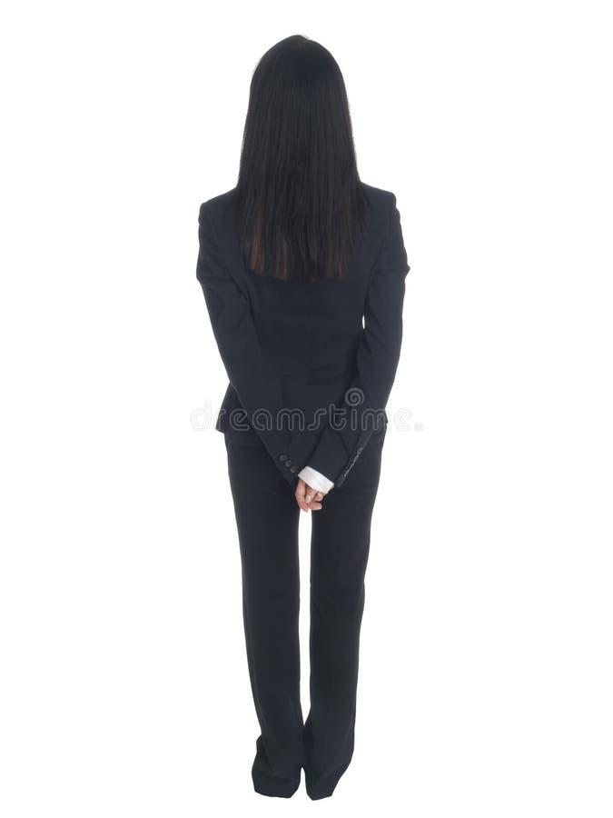 Affärskvinna - bak fotografering för bildbyråer