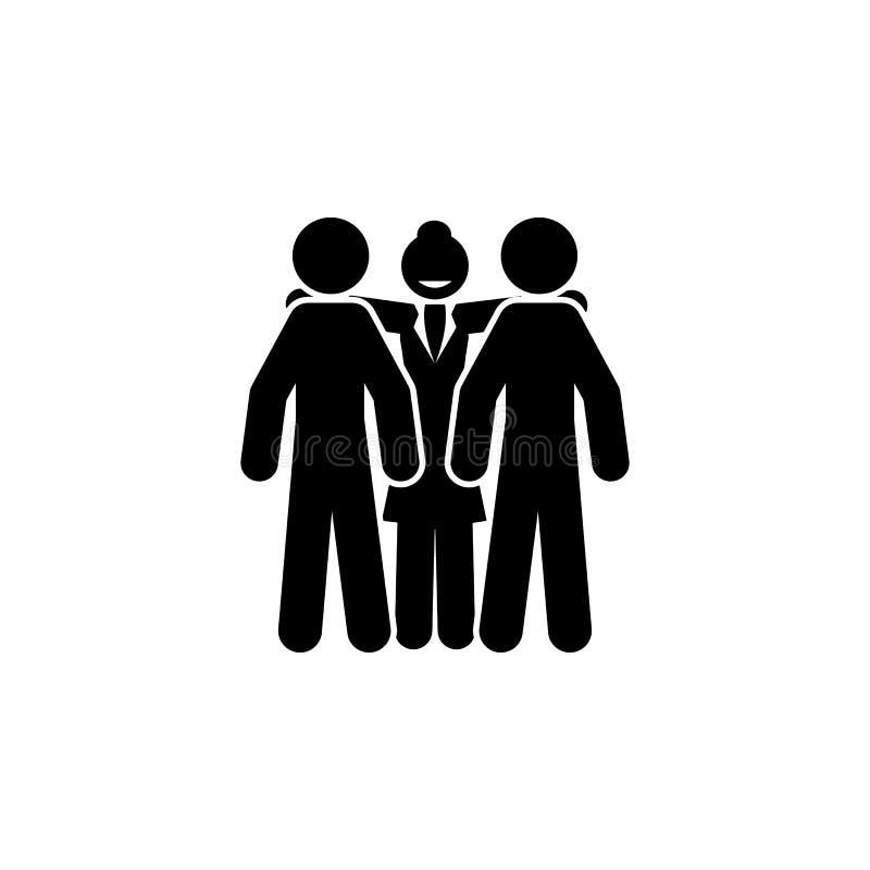 affärskvinna framstickandesymbol Beståndsdel av affärskvinnasymbolen Högvärdig kvalitets- symbol för grafisk design Tecken och sy royaltyfri illustrationer