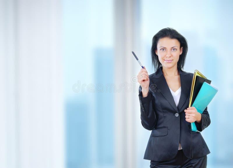 Affärskvinna i regeringsställning arkivfoton