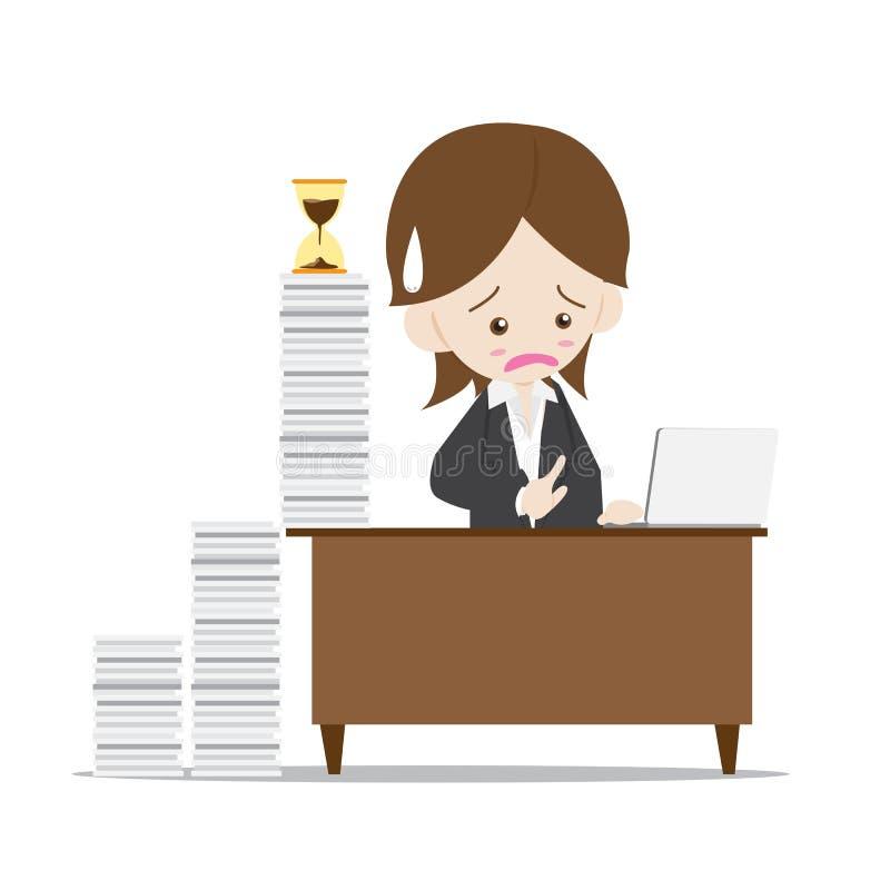 Affärskvinna i upptagen tid vektor illustrationer