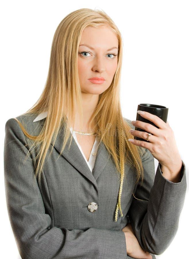 affärskvinna isolerad tillbringare royaltyfria foton
