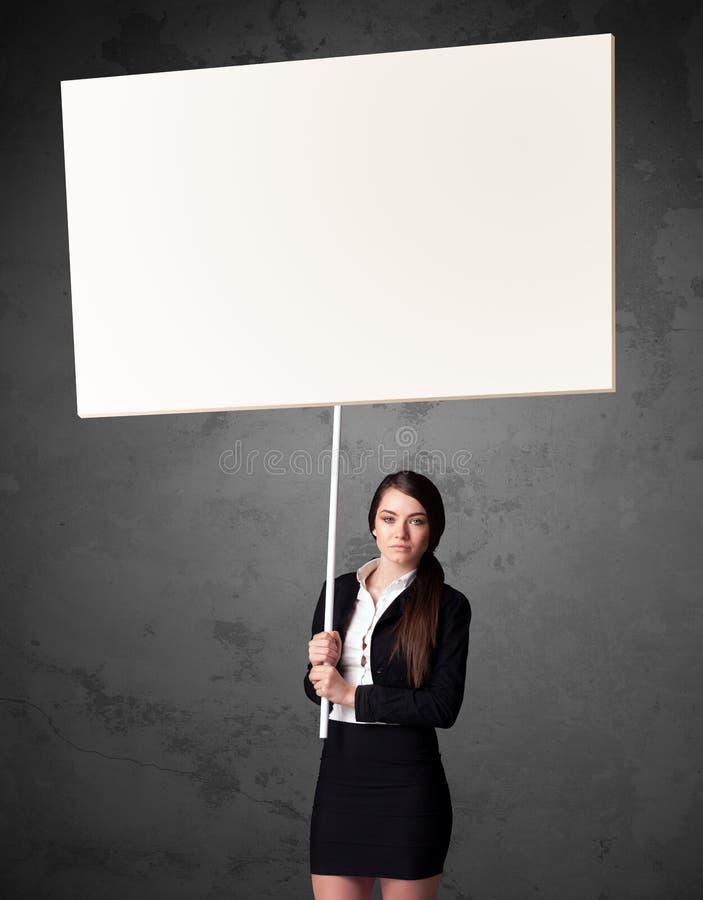 Download Affärskvinna Med Tom Whiteboard Fotografering för Bildbyråer - Bild av papper, uppvisning: 78730855
