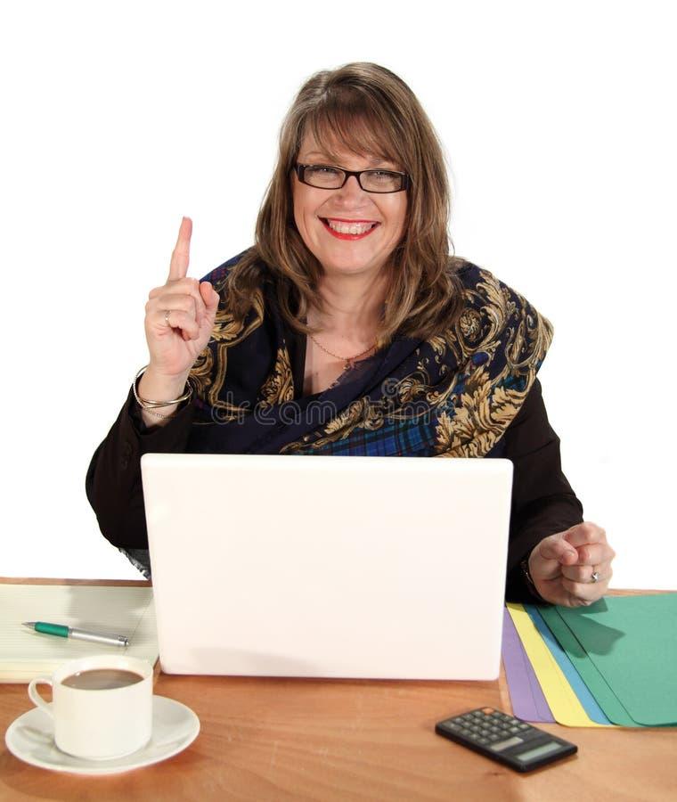 affärskvinna nummer ett royaltyfri bild