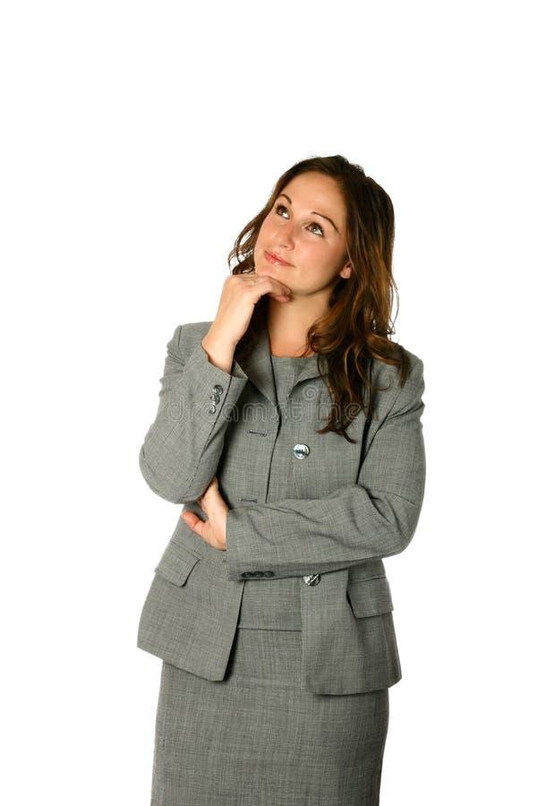 affärskvinna som får idéer royaltyfria bilder