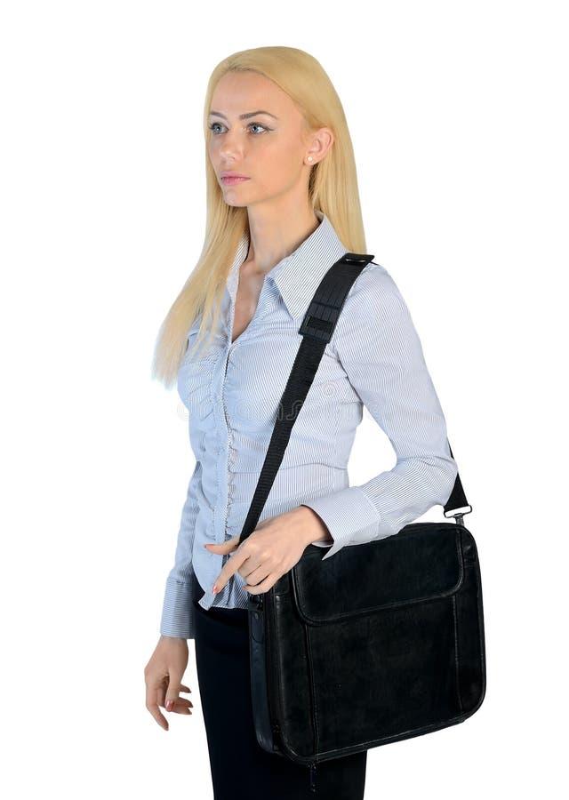Affärskvinna som ser sidan arkivfoton