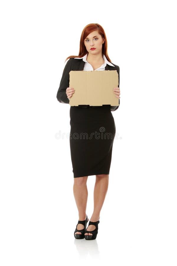 affärskvinnaarbetslös royaltyfria bilder