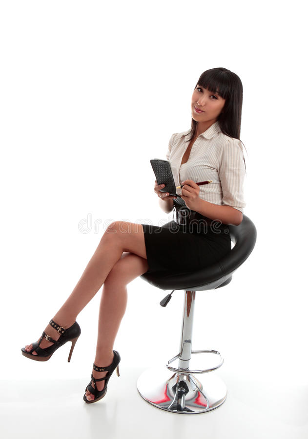 affärskvinnakontorsarbetare fotografering för bildbyråer