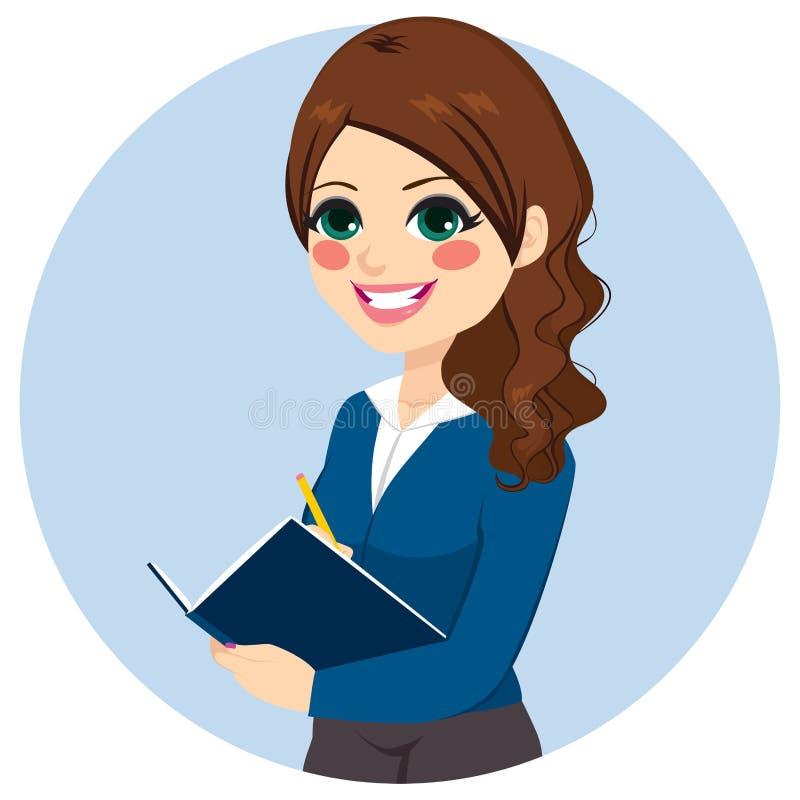 affärskvinnan för sökandebakgrundsaffärsman hands intrviewjobbanmärkningar som upprör lyckad writing stock illustrationer