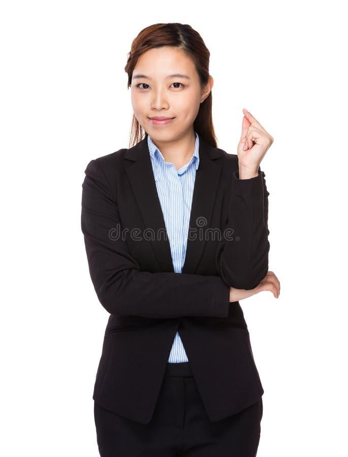 affärskvinnan fick idé arkivfoton