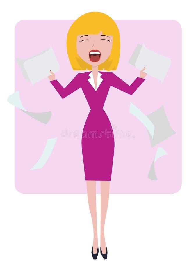 affärskvinnan stöde stock illustrationer