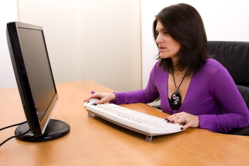 affärskvinnaworking fotografering för bildbyråer