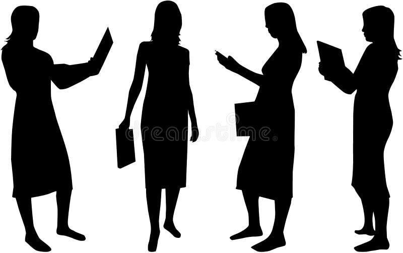 affärskvinnor stock illustrationer