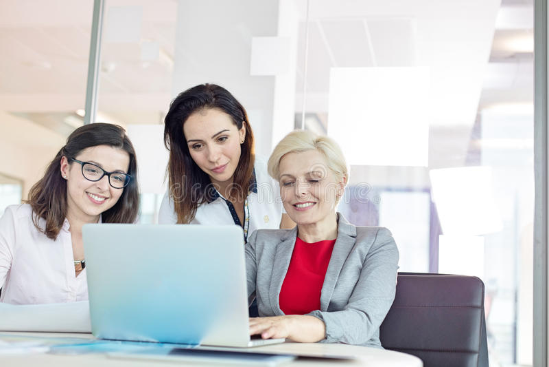 Download Affärskvinnor Som I Regeringsställning Använder Bärbara Datorn På Tabellen Arkivfoto - Bild av caucasian, plattform: 78728642