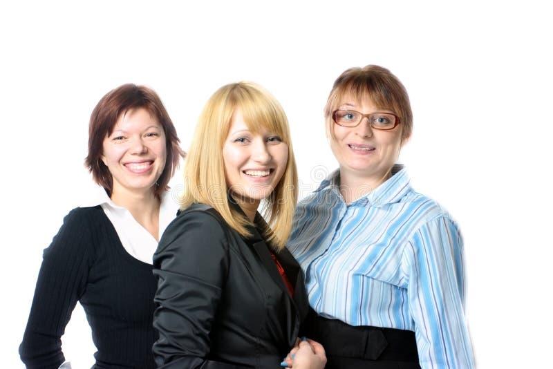 affärskvinnor tre royaltyfria foton