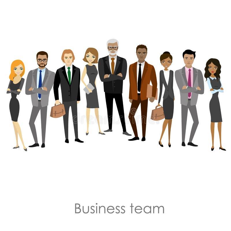 Affärslag av anställda och framstickandet vektor illustrationer