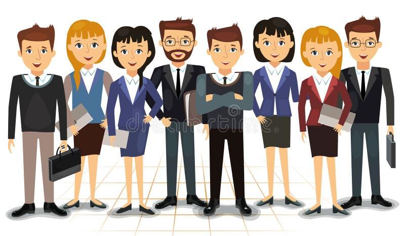 Affärslag av anställdvektorn royaltyfri illustrationer