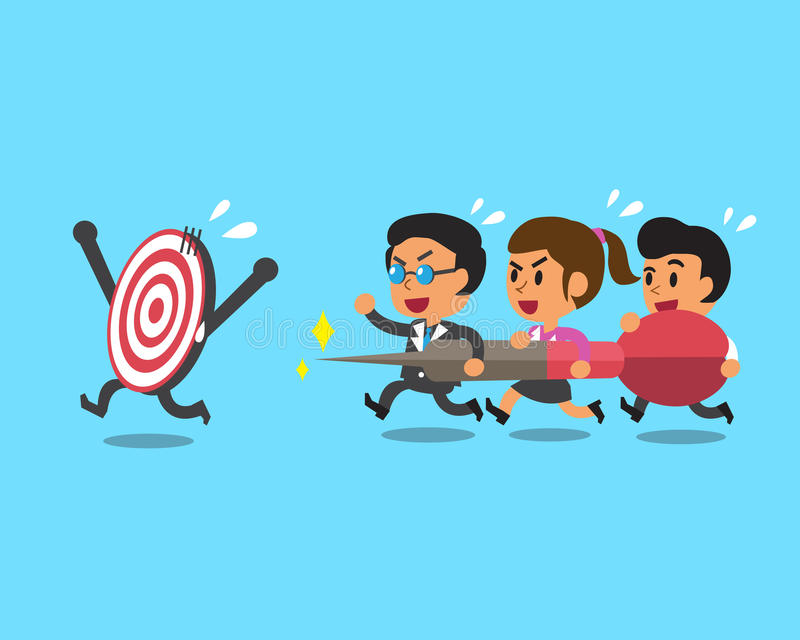 Affärslag och mål vektor illustrationer