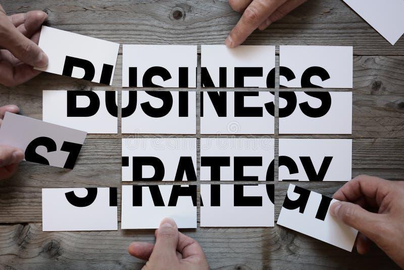 Affärslag som finner en affärsstrategi arkivfoton