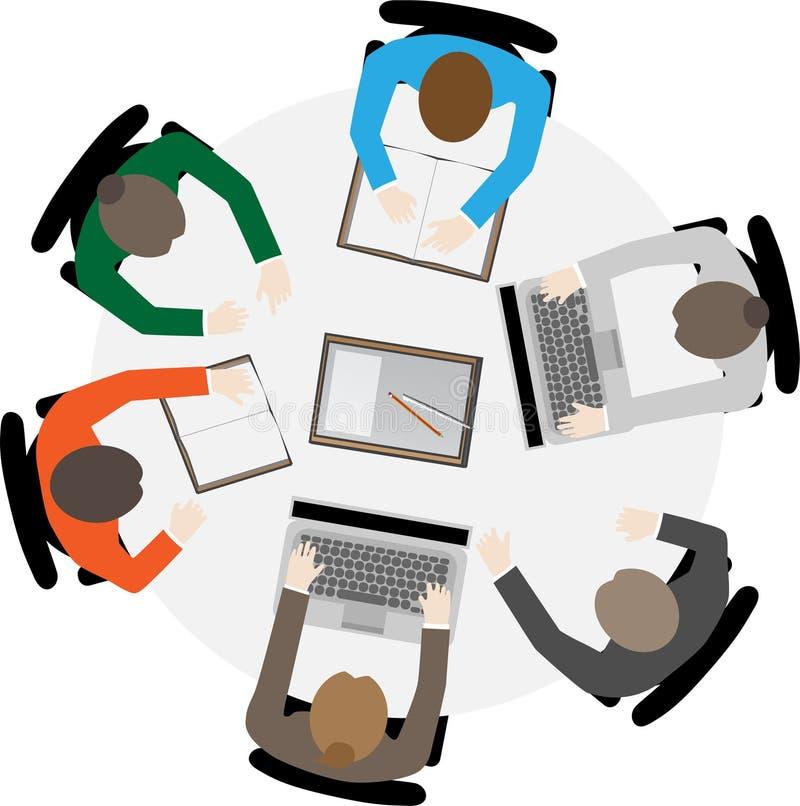 Affärslag som möter samarbete stock illustrationer