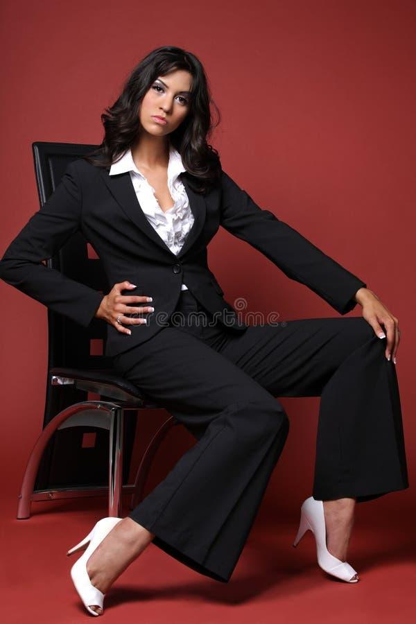 affärslatinokvinna arkivfoto