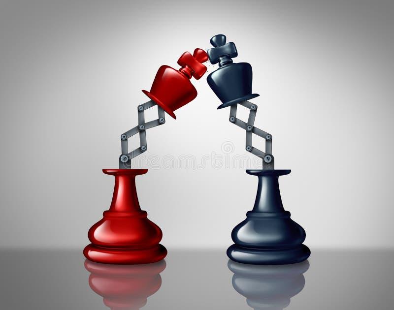Affärsledarskapkonkurrens stock illustrationer