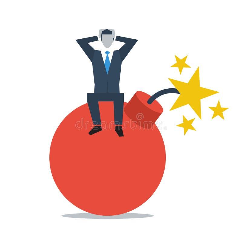 Affärsledning i kris stock illustrationer