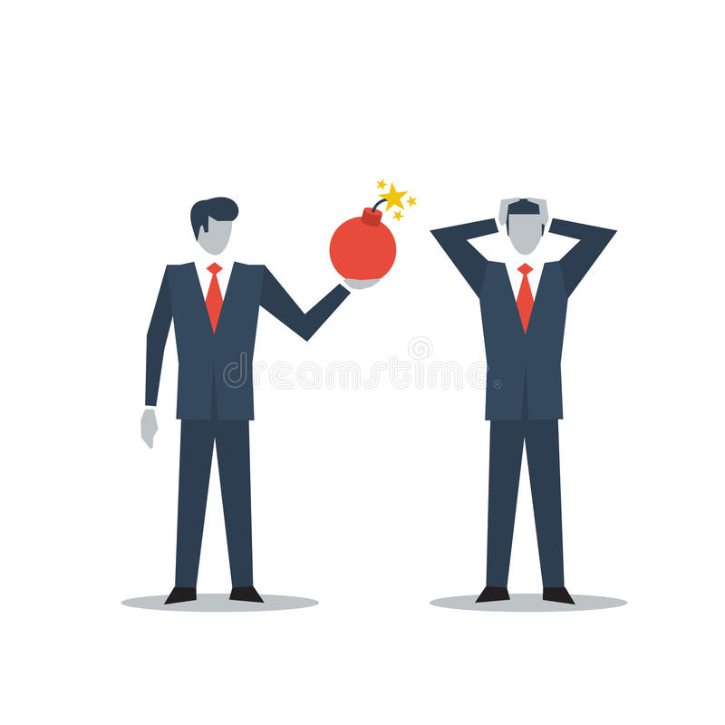 Affärsledning i kris royaltyfri illustrationer