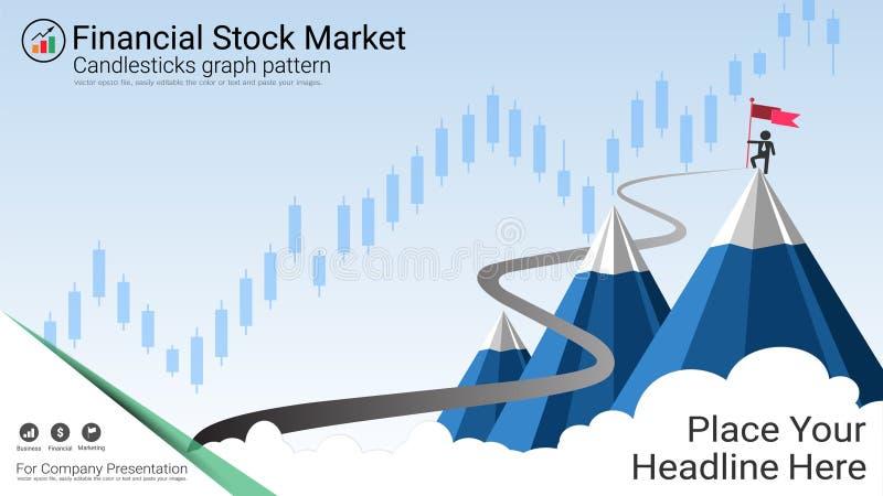 Affärsljusstakediagrammet är en stil av det finansiella diagrammet stock illustrationer