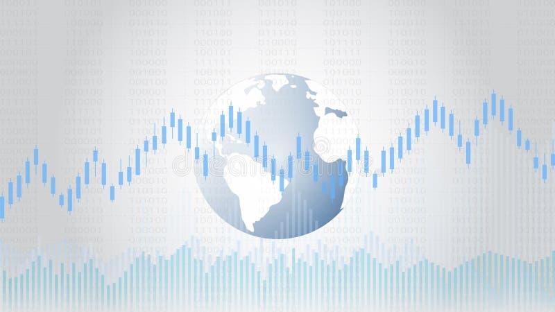 Affärsljusstaken och den finansiella grafen kartlägger passande för begrepp för handel för Forexaktiemarknadinvestering vektor illustrationer