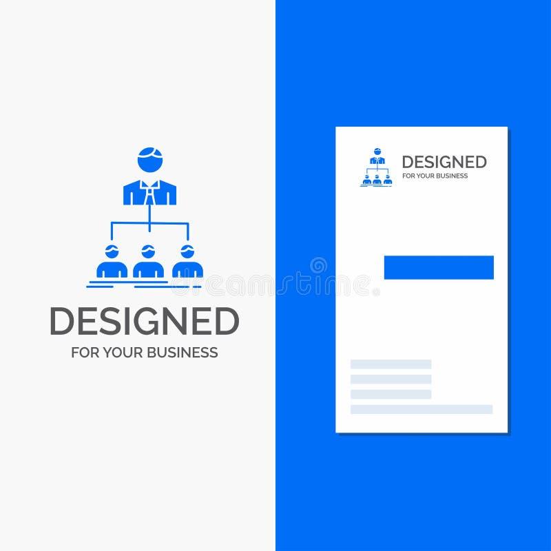 Affärslogo för lag, teamwork, organisation, grupp, företag Vertikal bl? aff?rs-/visitkortmall vektor illustrationer