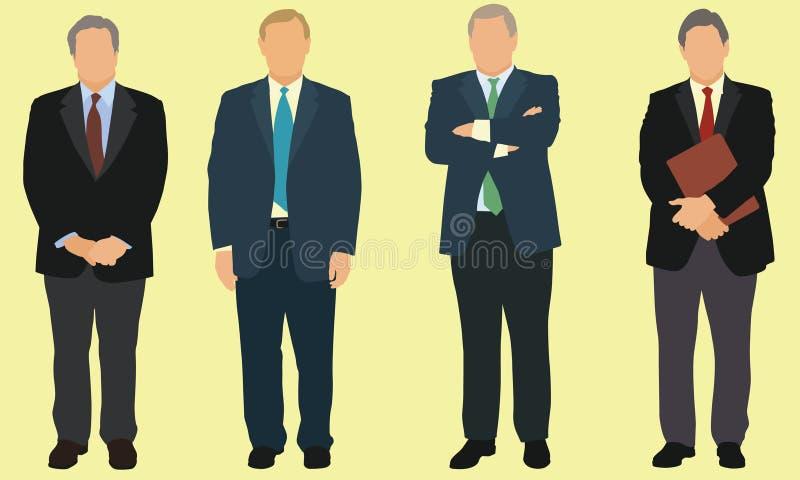Affärsmän stock illustrationer