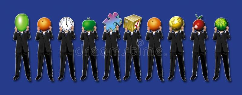 affärsmän royaltyfri illustrationer
