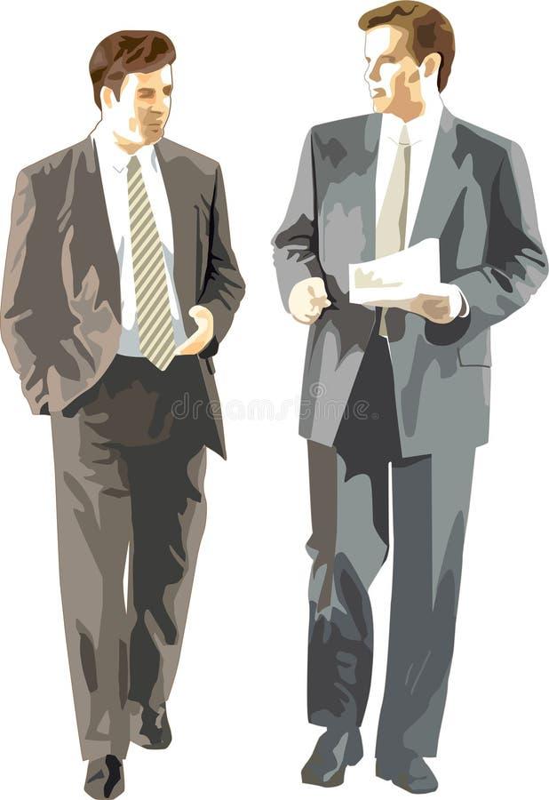 affärsmän diskuterar vektor illustrationer