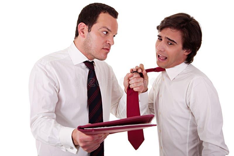 affärsmän som diskuterar arbete två royaltyfria foton