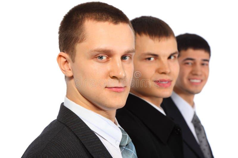 affärsmän tre arkivbild