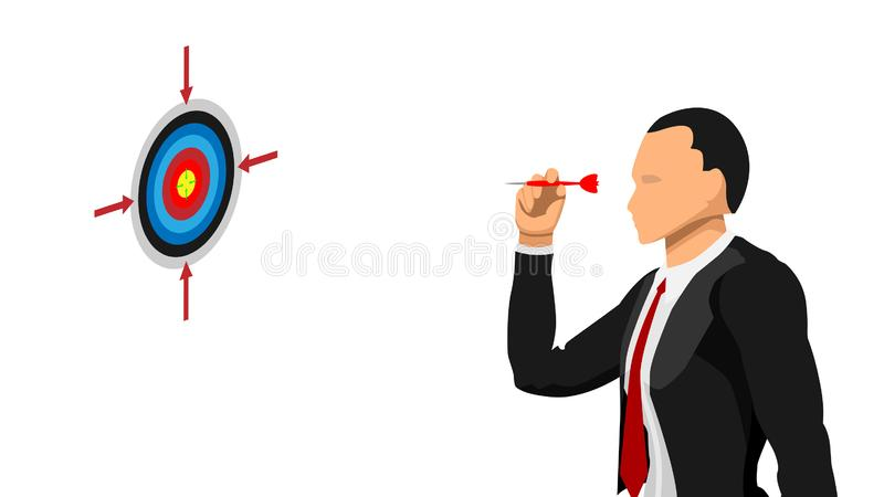 Affärsmän uppsätta som mål målet stock illustrationer
