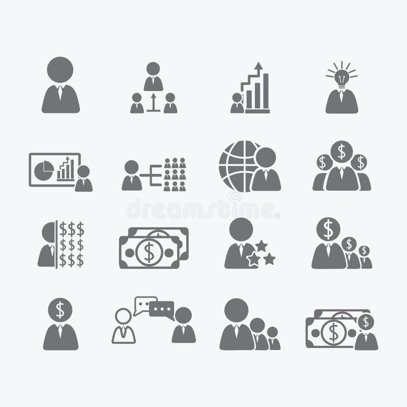 Affärsmänniskasymboler royaltyfri illustrationer