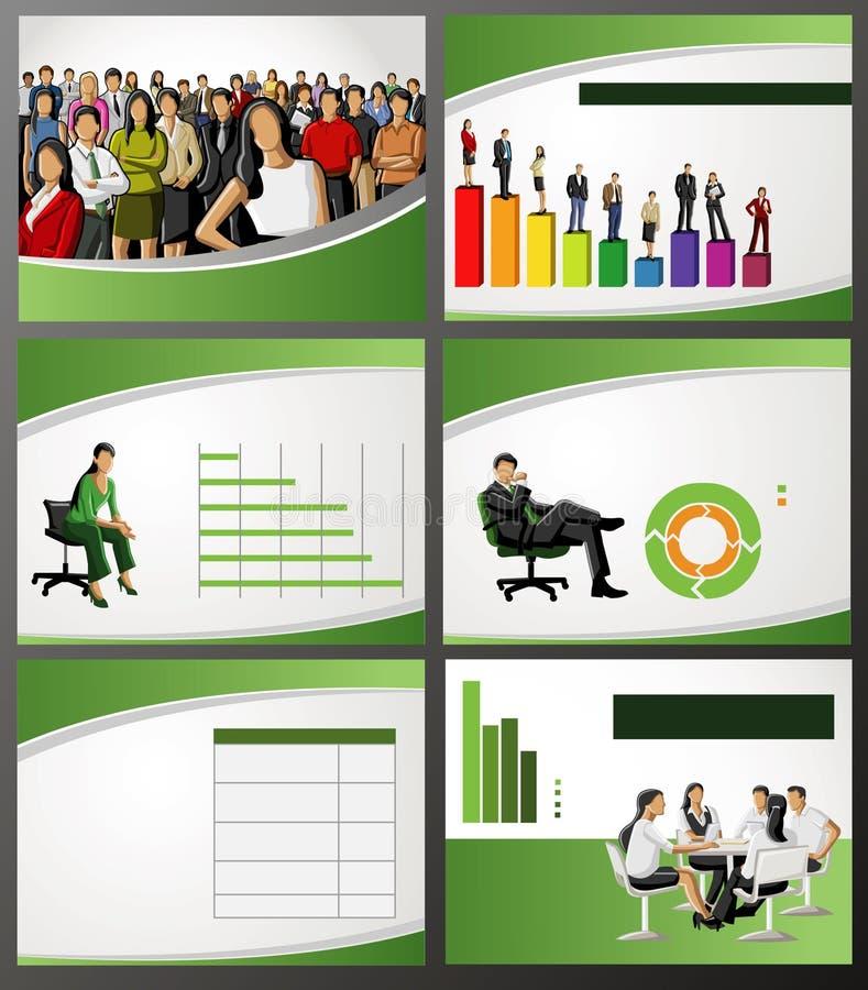 Affärsmall. royaltyfri illustrationer