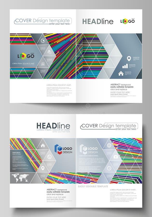 Affärsmallar för bi viker broschyren, reklambladet, rapport Täcka designmallen, abstrakt vektororientering i formatet A4 brigham vektor illustrationer