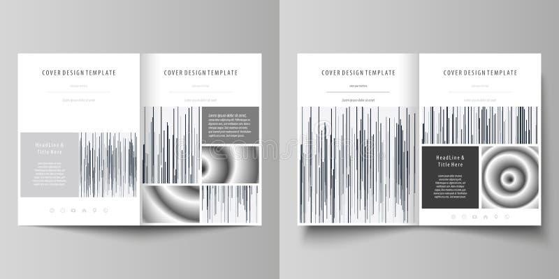 Affärsmallar för bi viker broschyren, tidskriften, reklamblad Täcka designmallen, abstrakt vektororientering i formatet A4 vektor illustrationer