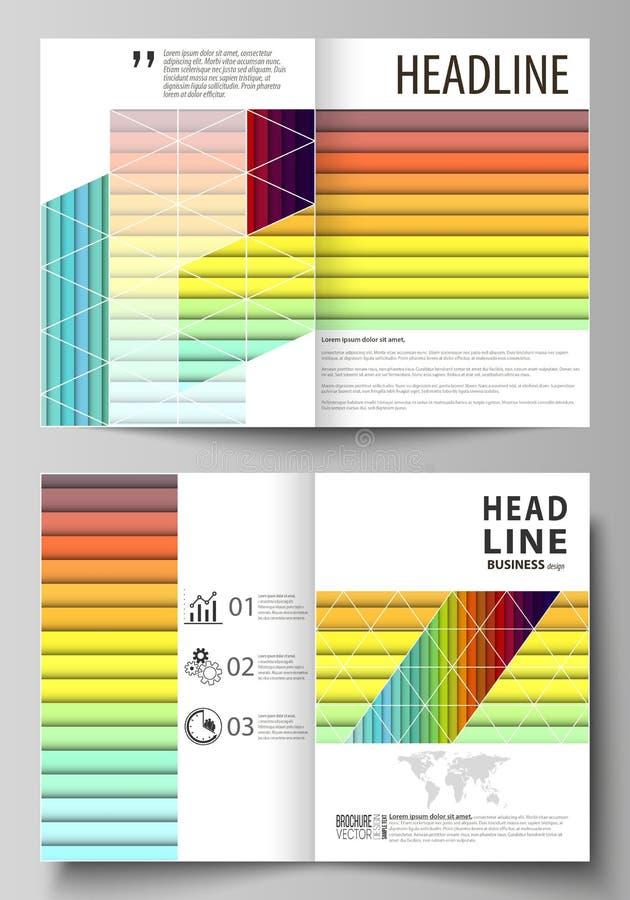 Affärsmallar för bi viker broschyren, tidskriften, reklambladet, häfte Räkningsmall, vektororientering i formatet A4 brigham stock illustrationer