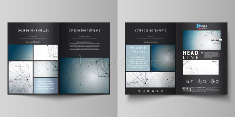 Affärsmallar för bi viker broschyren, tidskriften, reklambladet, häfte Täcka designmallen, vektororientering i formatet A4 Dna vektor illustrationer