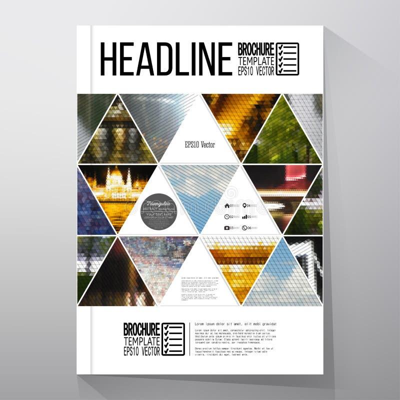 Affärsmallar för broschyr, reklamblad eller häfte stock illustrationer