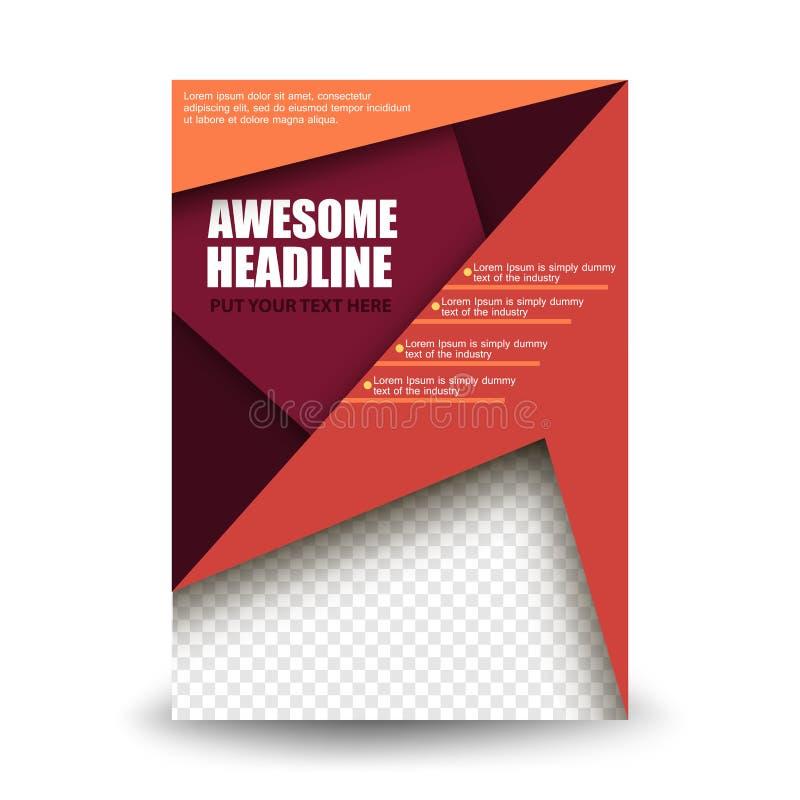 Affärsmallar för broschyr, reklamblad eller häfte Abstrakt mångfärgad bakgrund av naturlandskap, geometrisk vektor vektor illustrationer