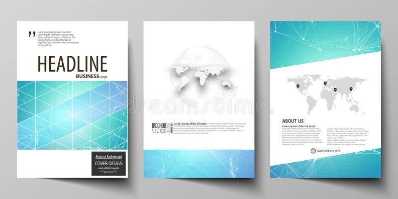 Affärsmallar för broschyren, tidskrift, reklamblad, häfte, rapport Täcka designmallen, vektororientering i formatet A4 stock illustrationer