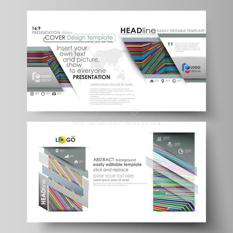 Affärsmallar i HD-formatet för presentation glider Lätta redigerbara abstrakta vektororienteringar i plan design brigham royaltyfri illustrationer