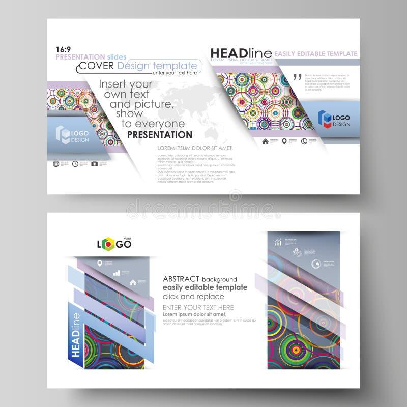 Affärsmallar i HD-formatet för presentation glider Lätta redigerbara abstrakta vektororienteringar i plan design brigham vektor illustrationer