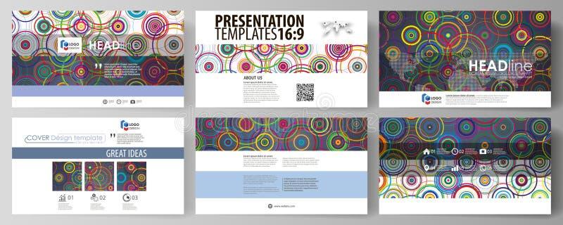 Affärsmallar i HD-formatet för presentation glider Lätta redigerbara abstrakta vektororienteringar i plan design brigham stock illustrationer