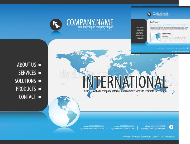 affärsmallwebsite stock illustrationer